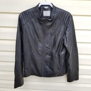 Soia & Kyo Genuine Leather Moto Jacket | Large